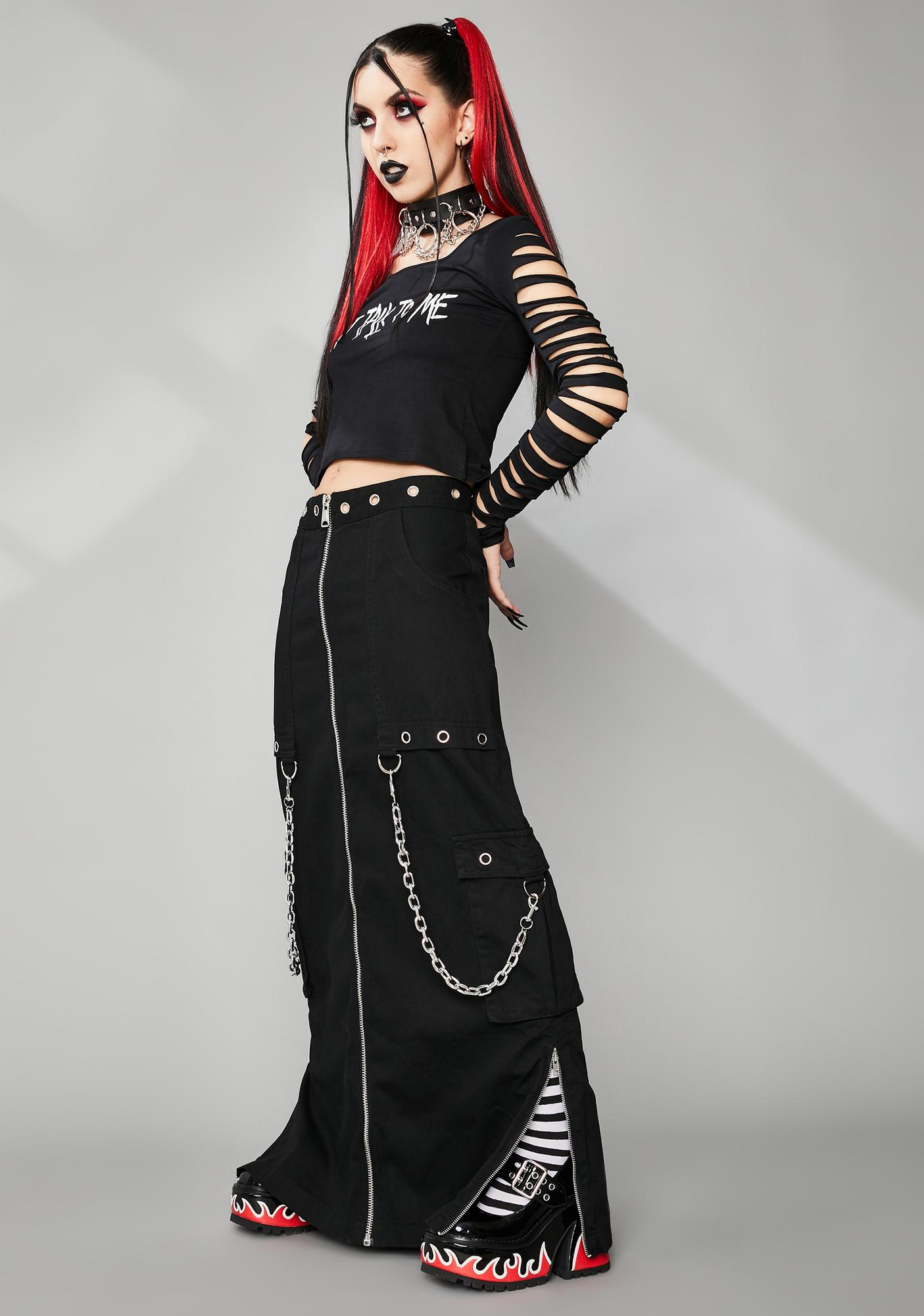 Widow Cyber Vamp Maxi Skirt