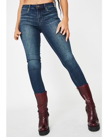 Suzy High Waist Skinny Denim Jeans