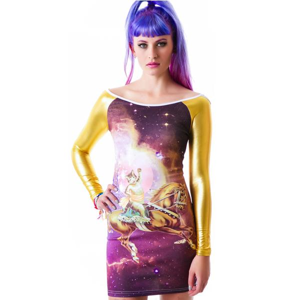Too Fast Galaxy Cat Hazard PVC Dress