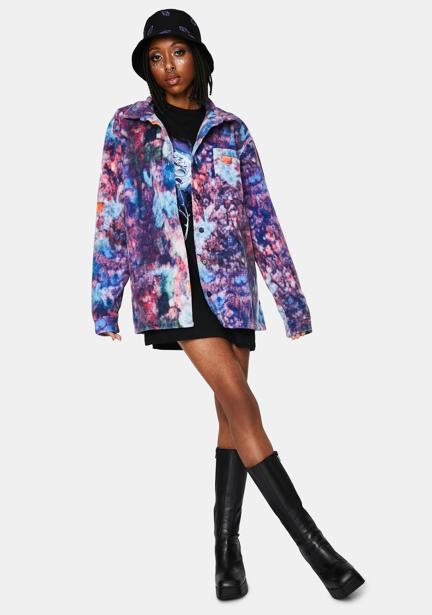 NEW GIRL ORDER Marble Fleece Shirt