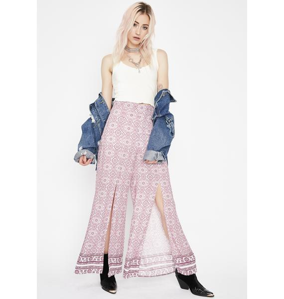 Luv Guru Front Slit Pants