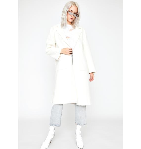 Beige Tried N' True Knit Coat