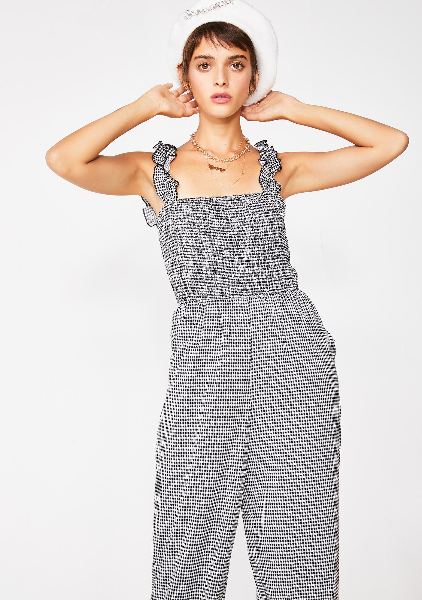 Hi Society Gingham Jumpsuit