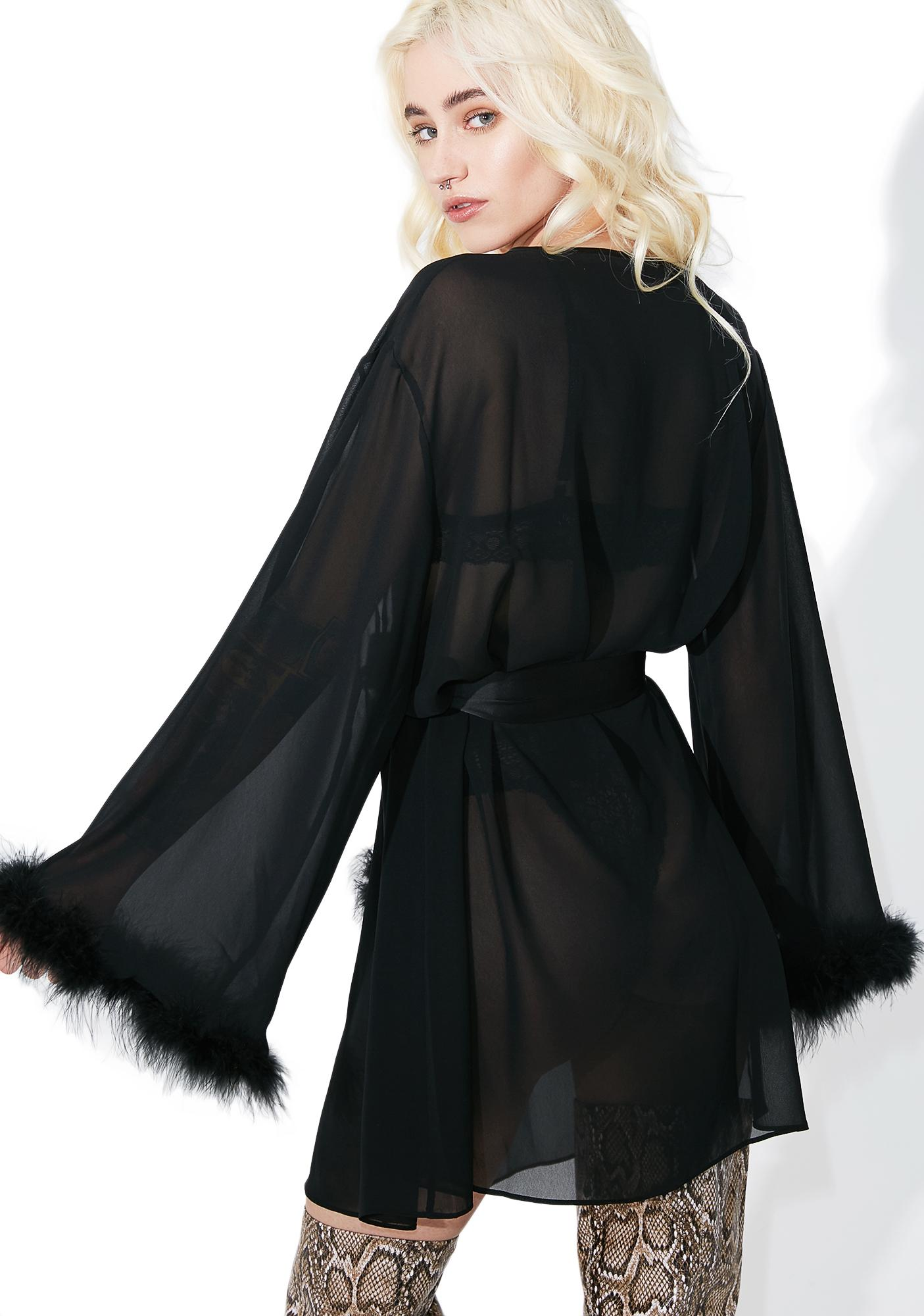 Angel Of The Night Feather Robe