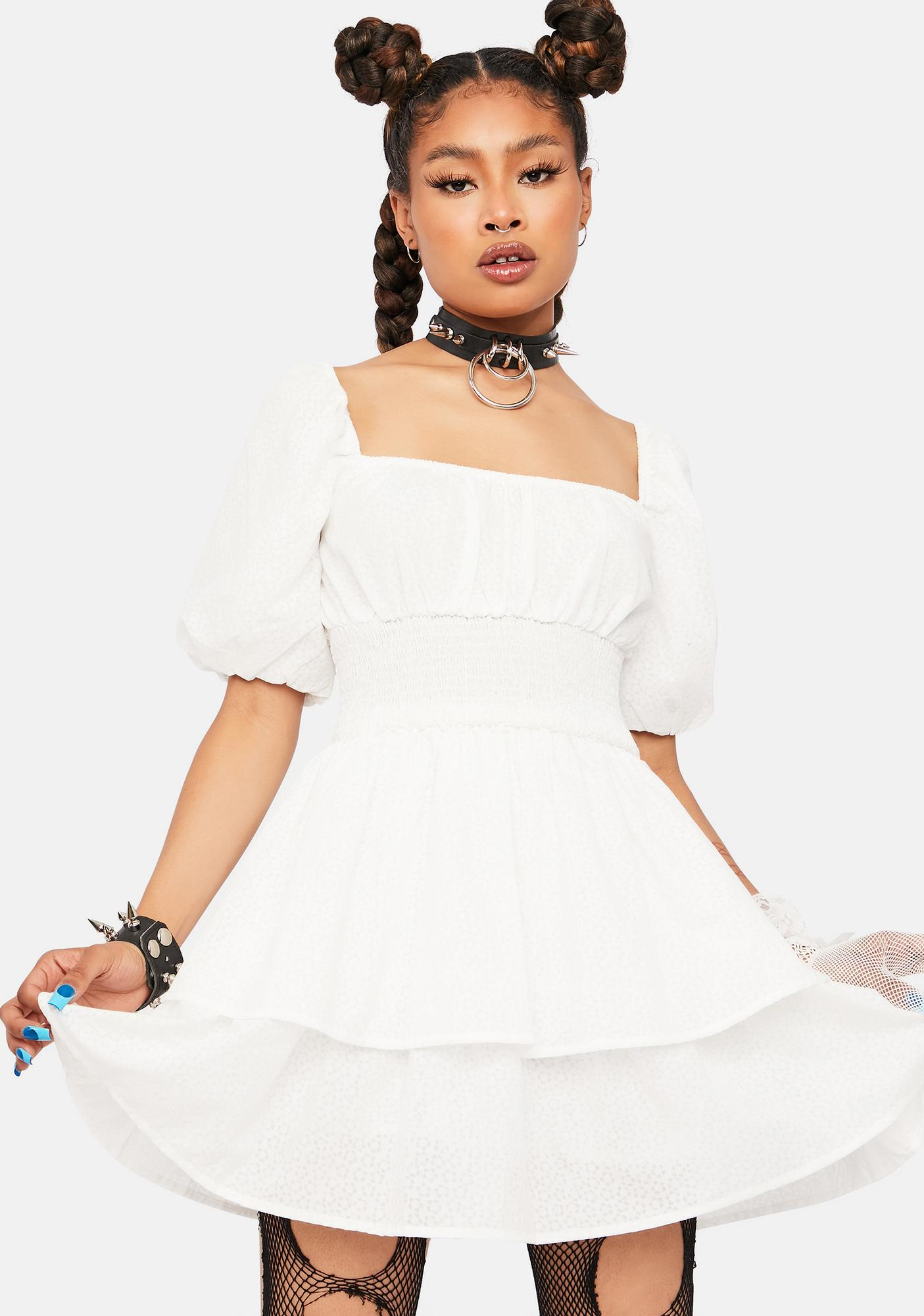 Only A Dream Ruffle Mini Dress