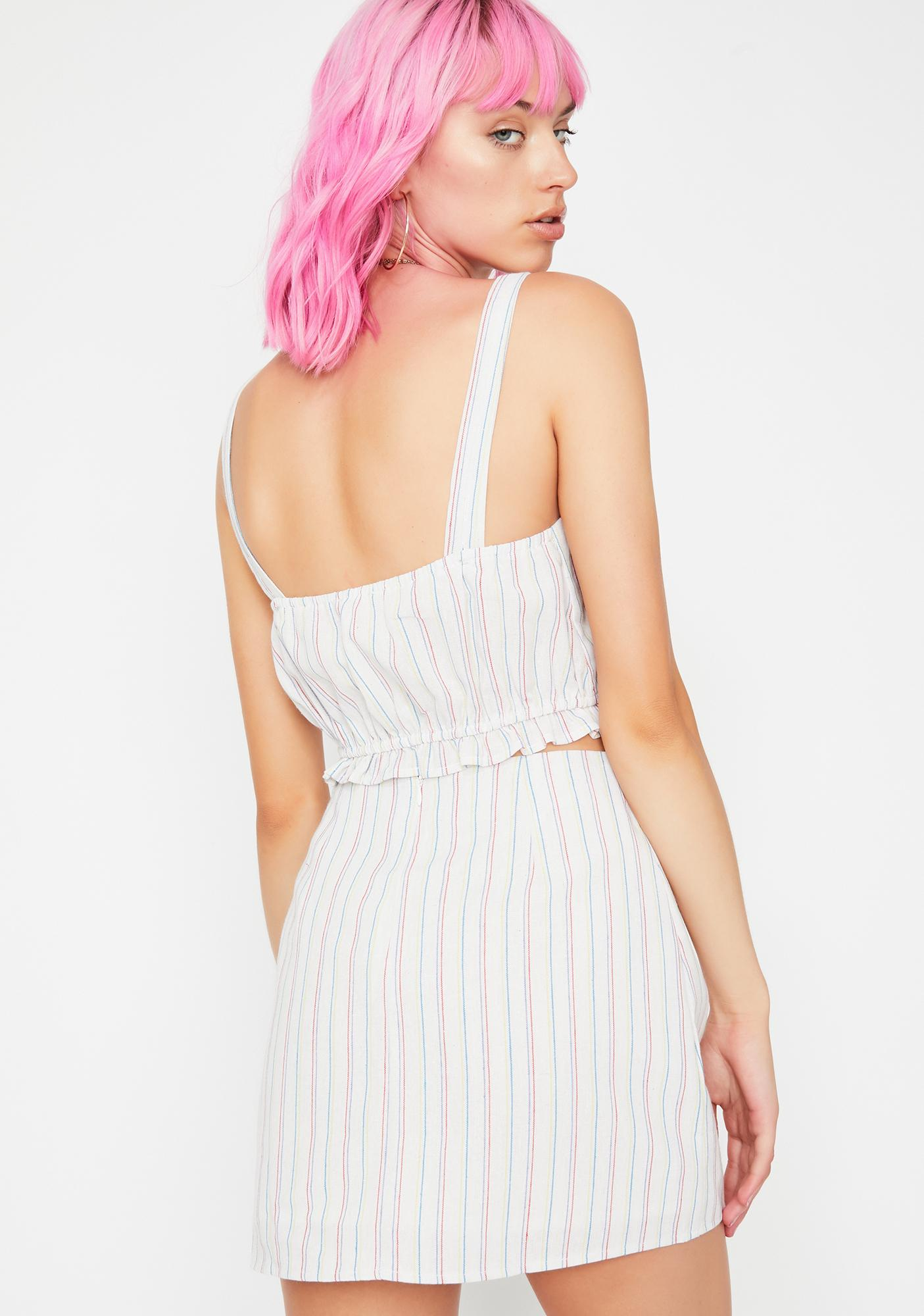 Hayes Valley Striped Skirt