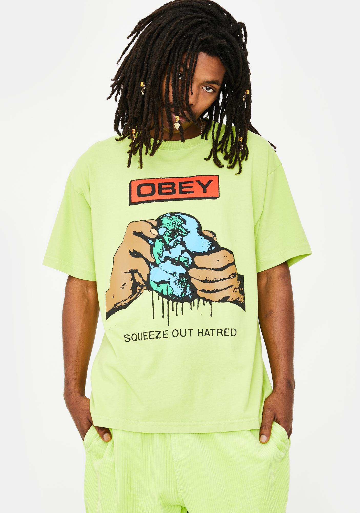 Obey Squeeze Out Hatred Graphic Tee