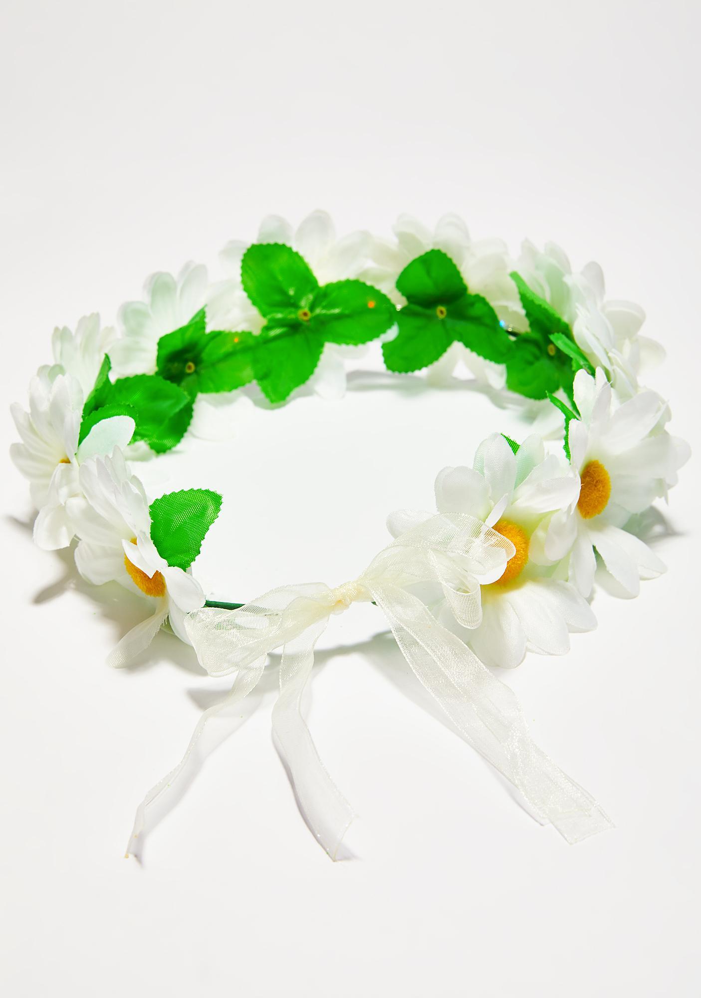 J Valentine Daisy Multi Light-Up Flower Crown