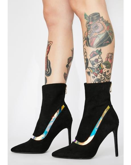 Baddie Rules Stiletto Booties
