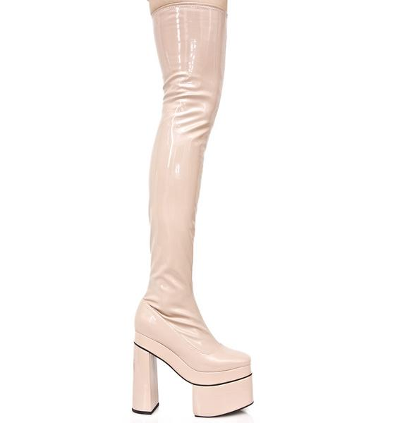 Sugarbaby Nude Belladonna Thigh-High Boots