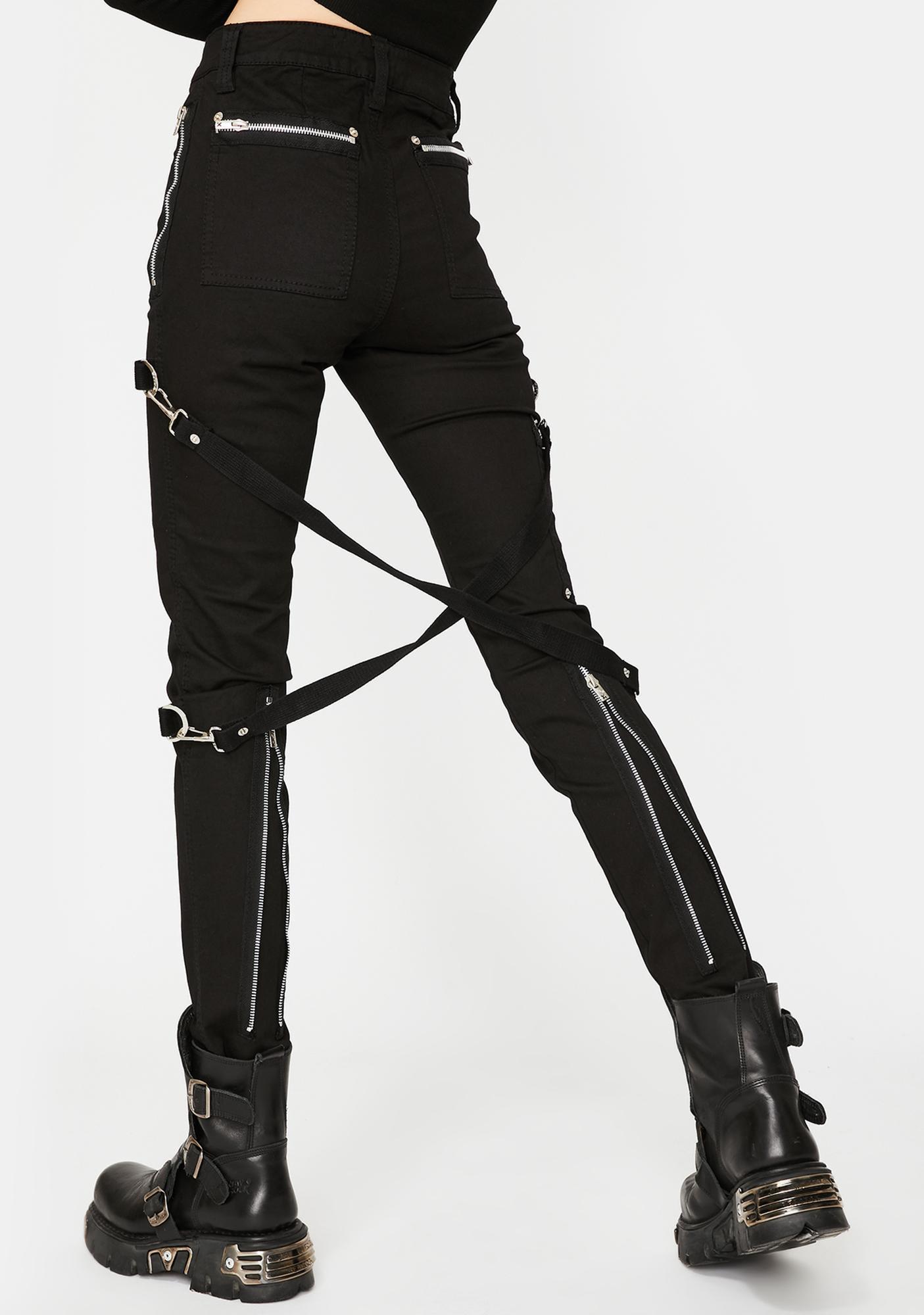 Tripp NYC Black Chaos Bondage Pants