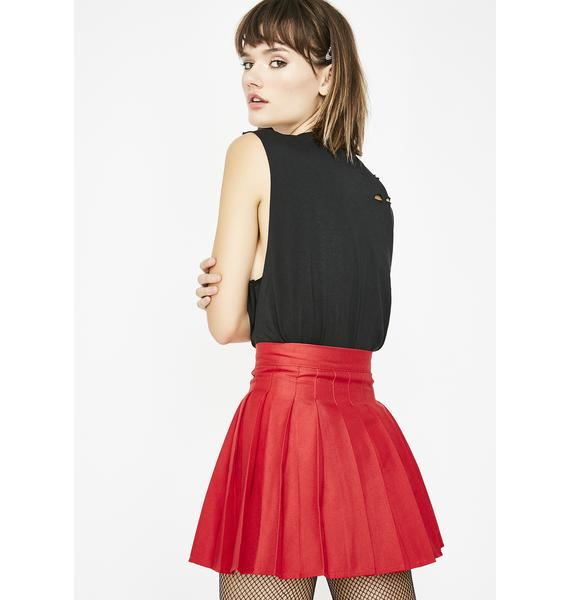 Cherry Just Like Candy Pleated Skirt