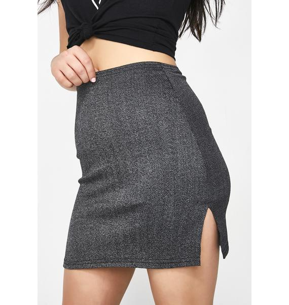 American Deadstock X Internet Girl DM Herringbone Mini Skirt