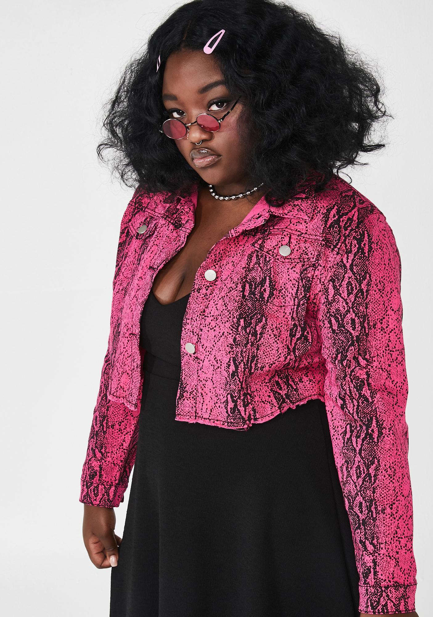 She's Lady Danger Snakeskin Jacket