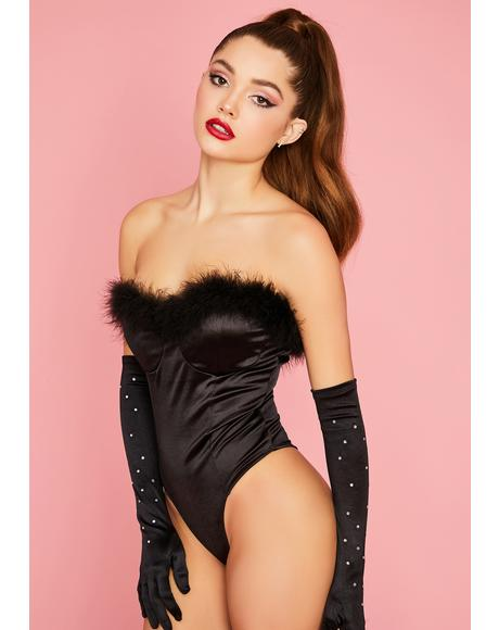 Pinup Princess Satin Bodysuit
