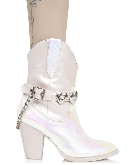 Mirage Iridescent Cowboy Boots