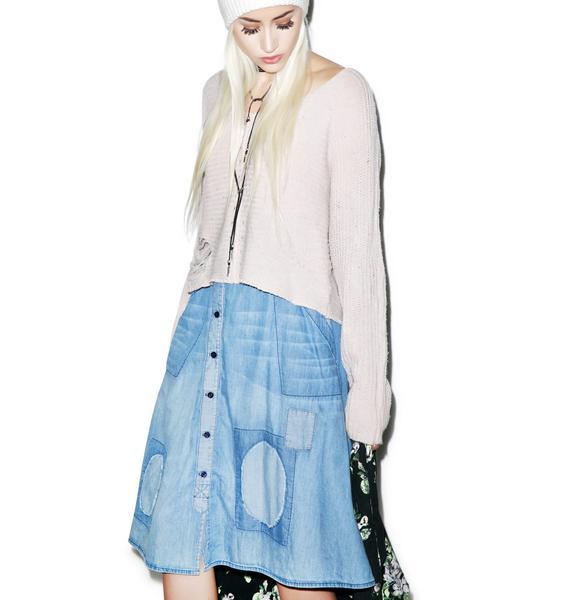 Wildfox Couture Chambray Hamptons Skirt