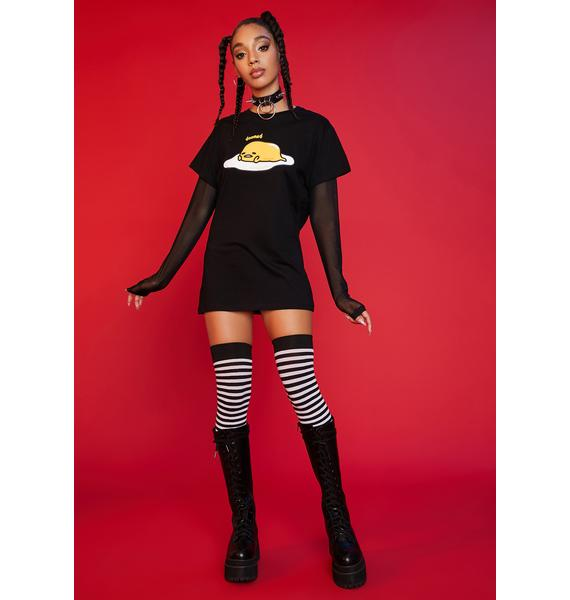 Dolls Kill x Hello Kitty Sunny Side Up Twofer Graphic Tee