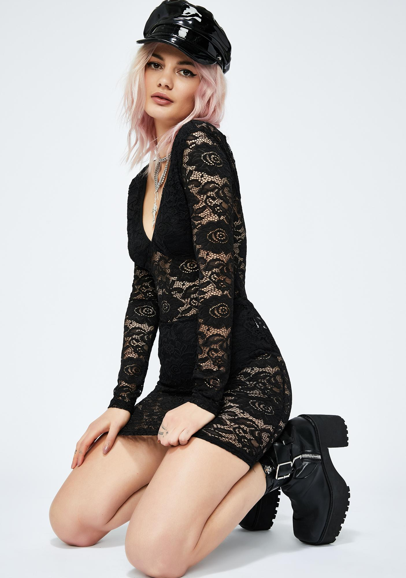 Wicked Go Go Glow Lace Dress
