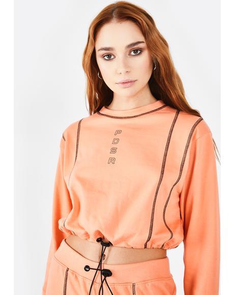 Orange PDSR Logo Sweatshirt
