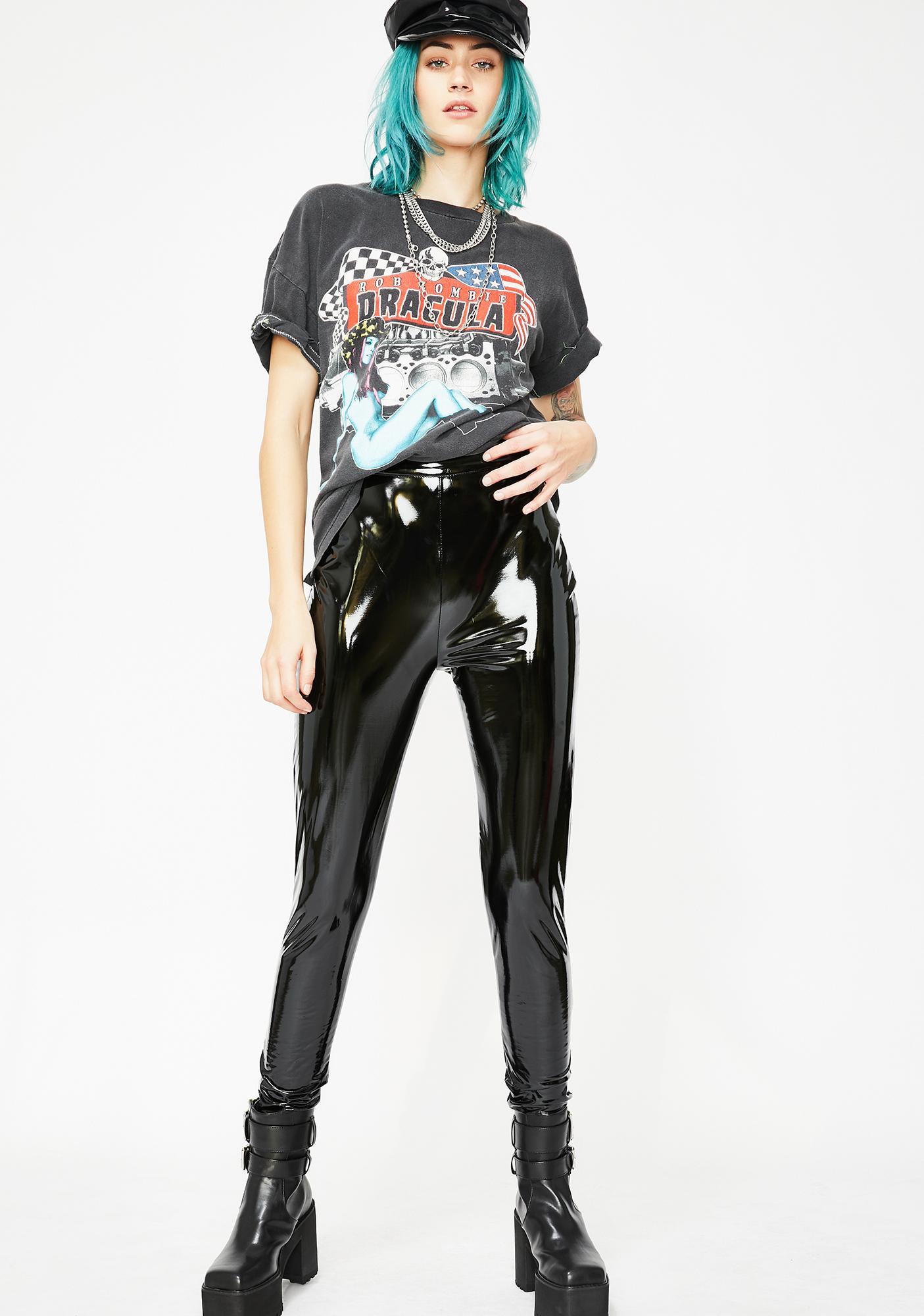 Burner Blur Vinyl Leggings