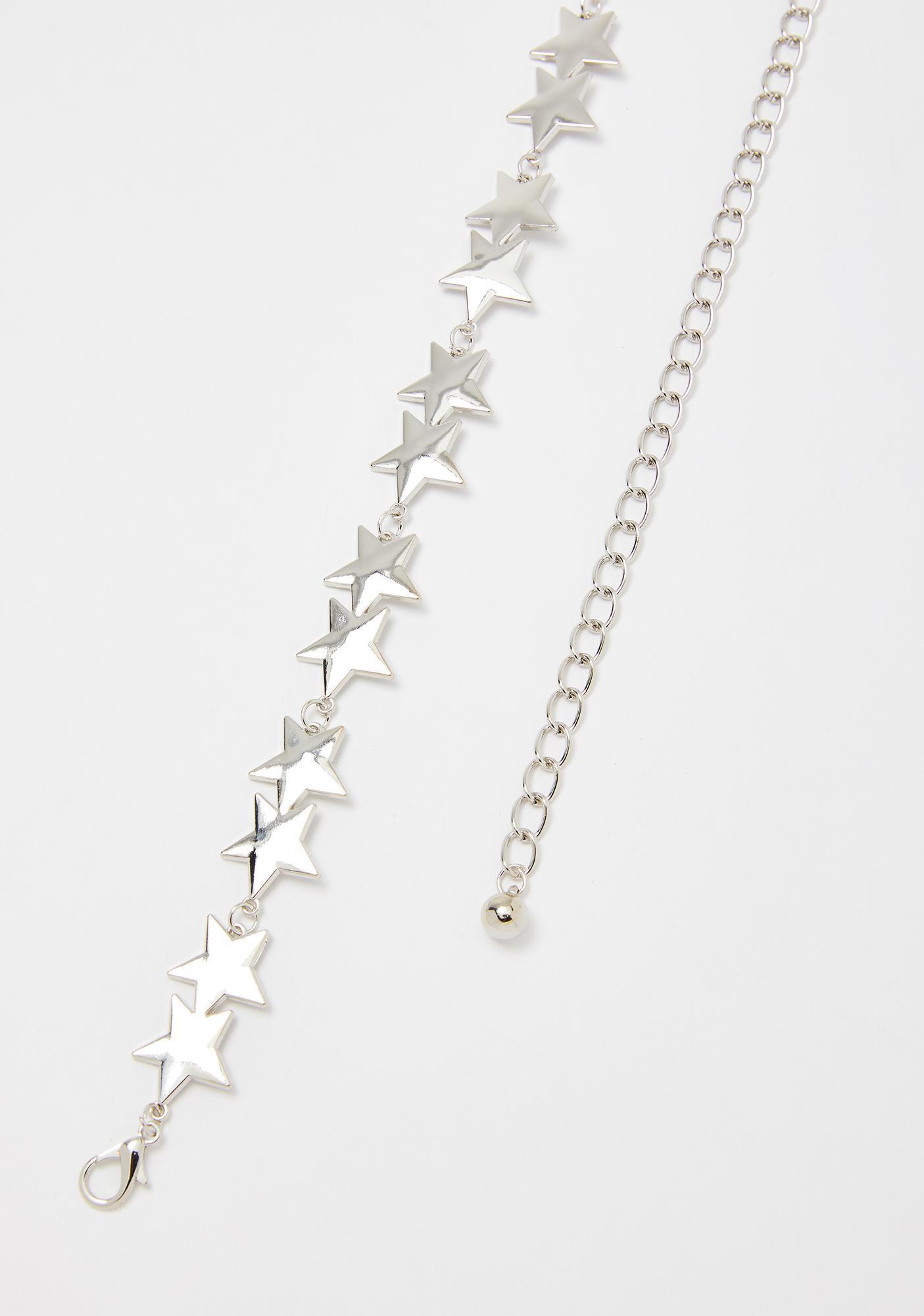 Chrome Shining Star Chain Belt