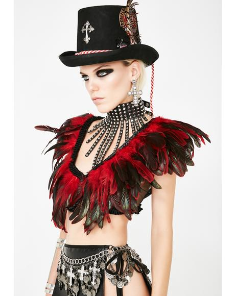 Voodoo Vixen Feather Top