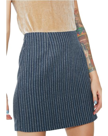 Bottom Line Pinstripe Skirt