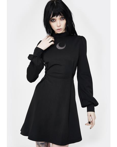 Moon High Collar Mini Dress