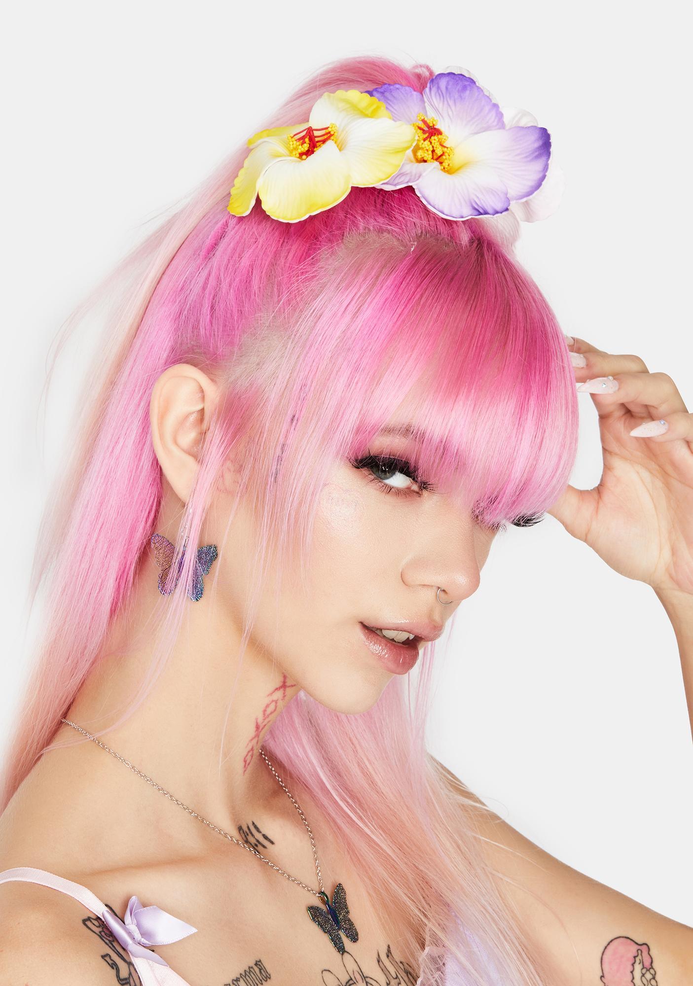 Luau Love Hair Clip Set