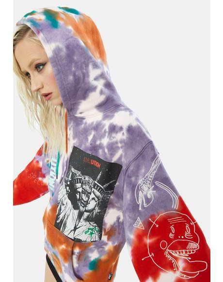 Liveution Magic 4 Resistance Tie Dye Hoodie