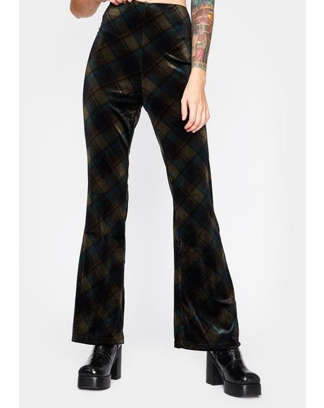 Rotten Rebel Plaid Flares
