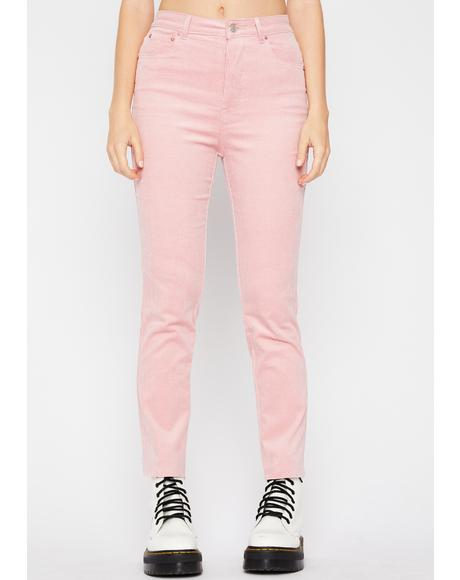 Bubblegum Fallin' Hard Corduroy Pants
