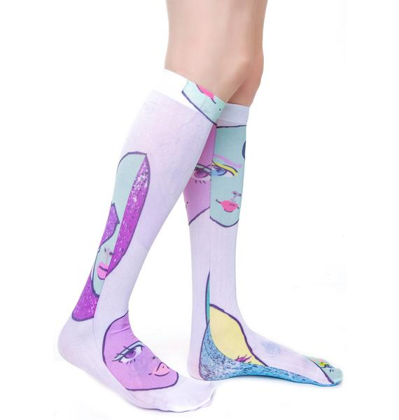 Coveted Society MAMA! Dolls Sheer Socks