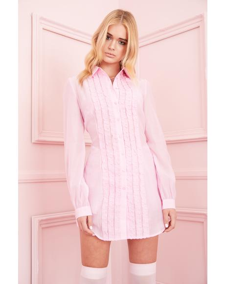Petty In Pink Shirt Dress