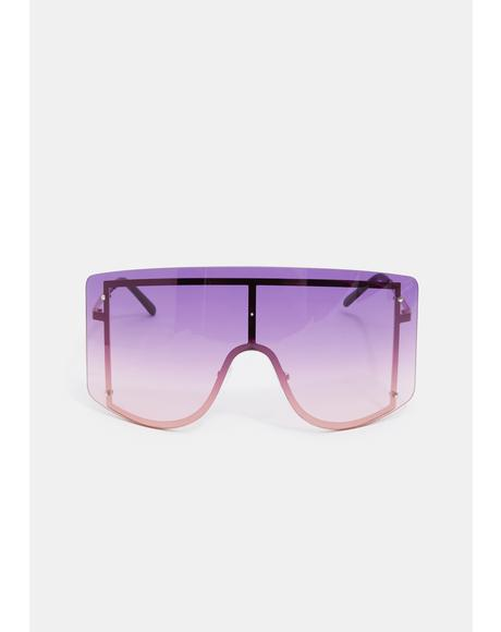 Violet Big Dreams Oversized Sunglasses