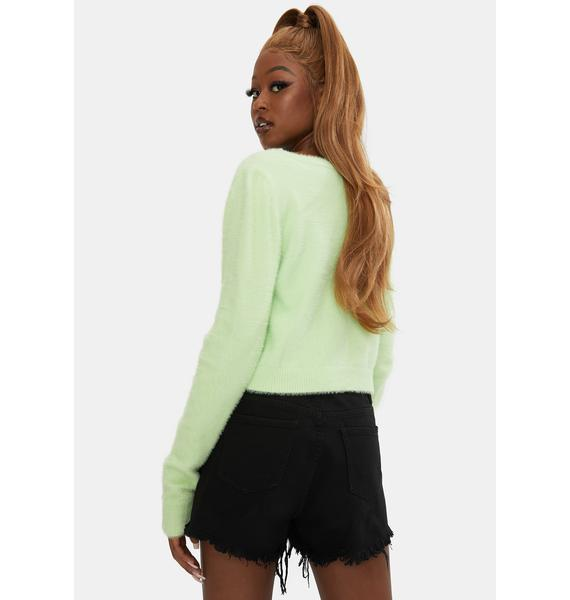 Glamorous Soft Lime Tie Front Cardigan