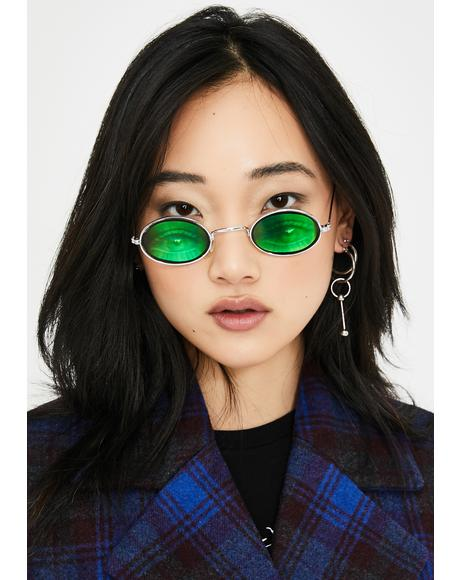 Oval Eyes On You Hologram Sunglasses