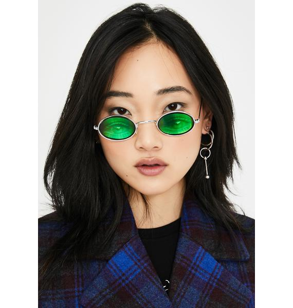 Replay Vintage Sunglasses Oval Eyes On You Hologram Sunglasses
