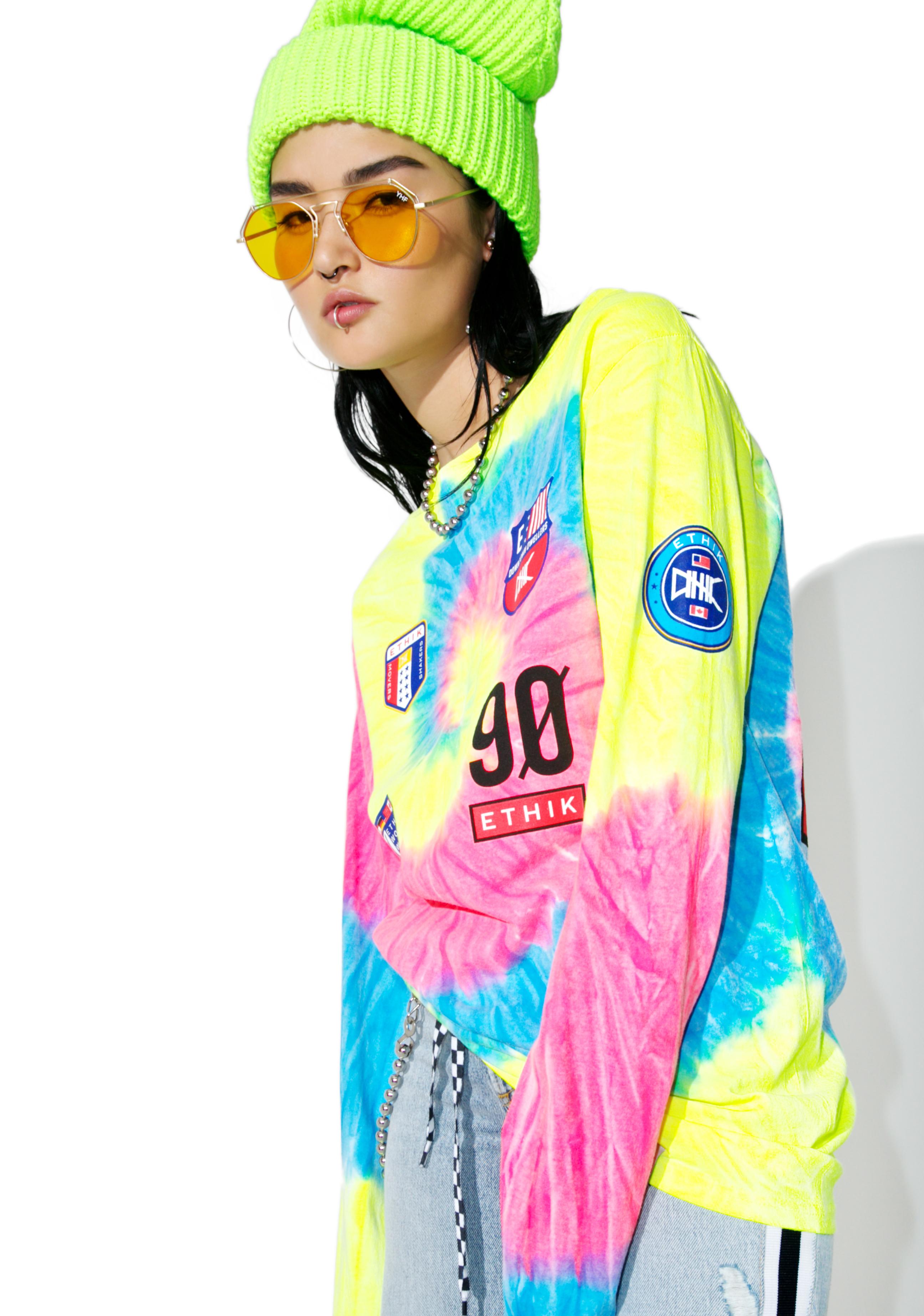 ETHIK Neon Trippy Sport Long Sleeve Tee