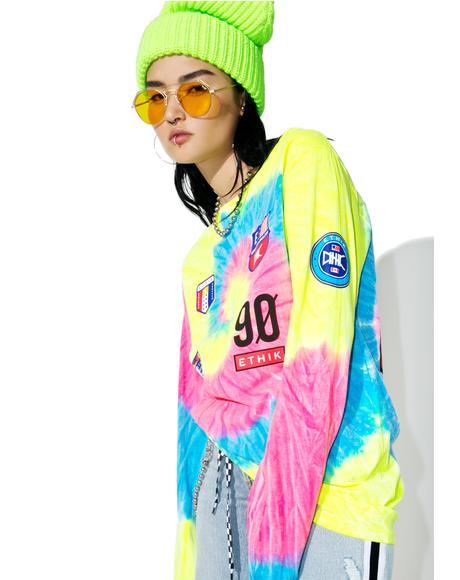 Neon Trippy Sport Long Sleeve Tee