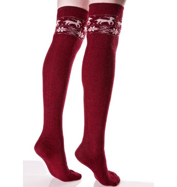 Cuz I Sleigh Knee High Socks