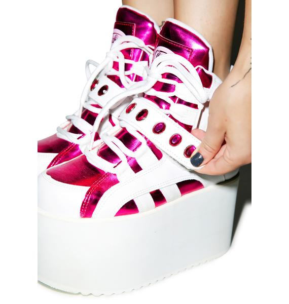 Buffalo BB Spice Pink Platforms