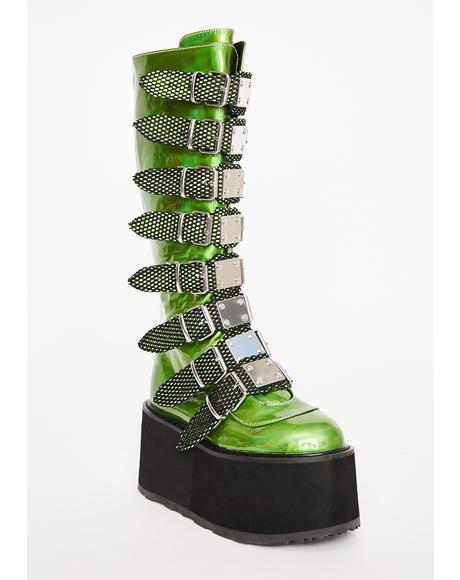 UV Slime Morpheus Platform Boots