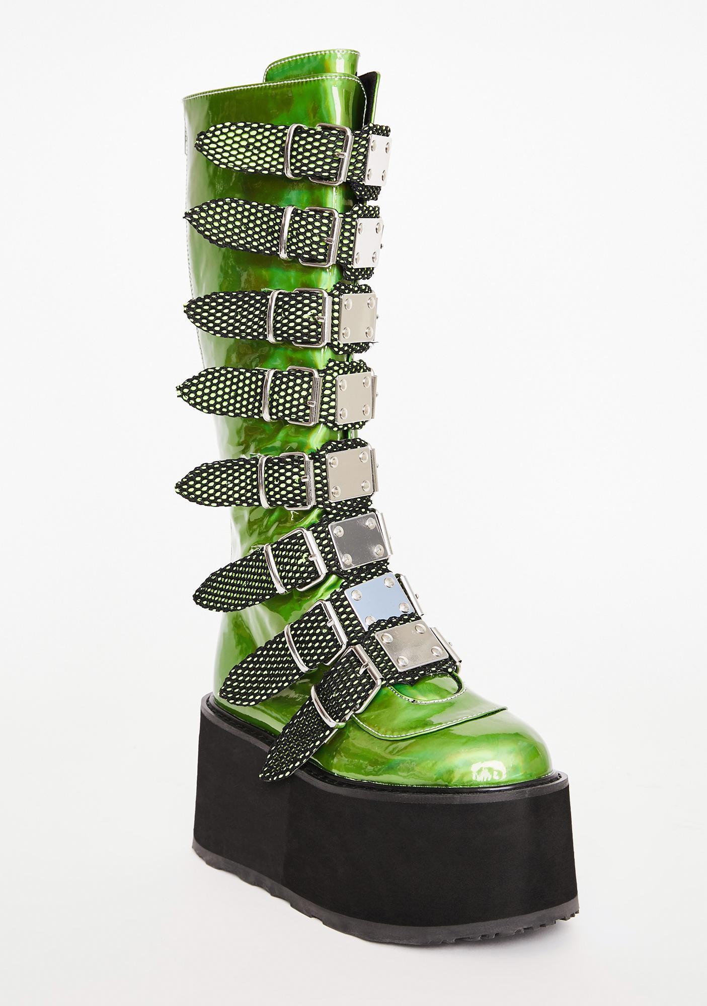 Demonia UV Slime Morpheus Platform Boots