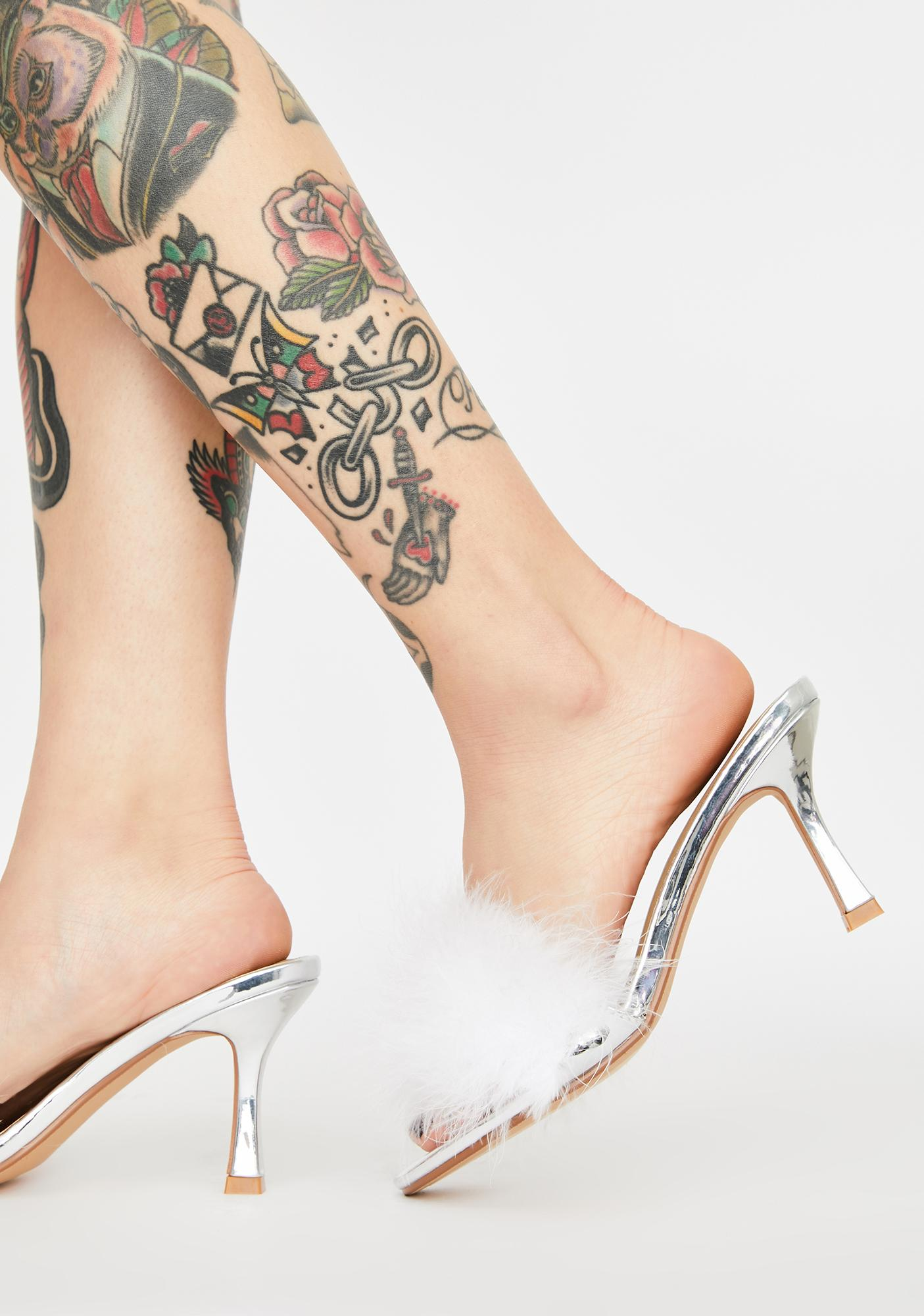 Angel Yes Darling Marabou Heels
