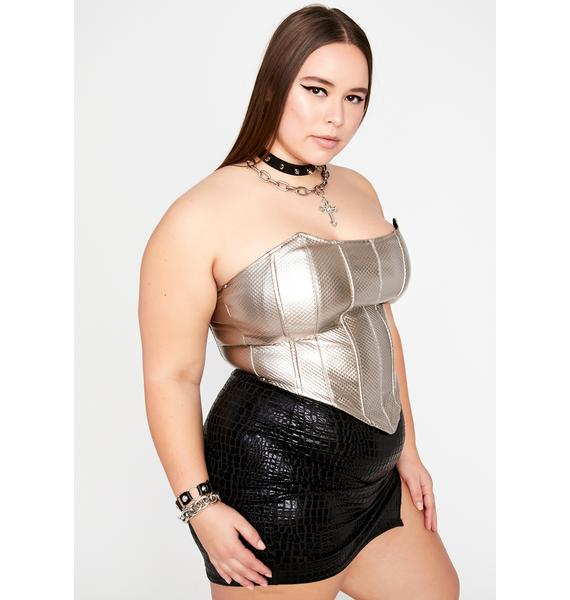Slate Wild Wicked Winds Corset Top