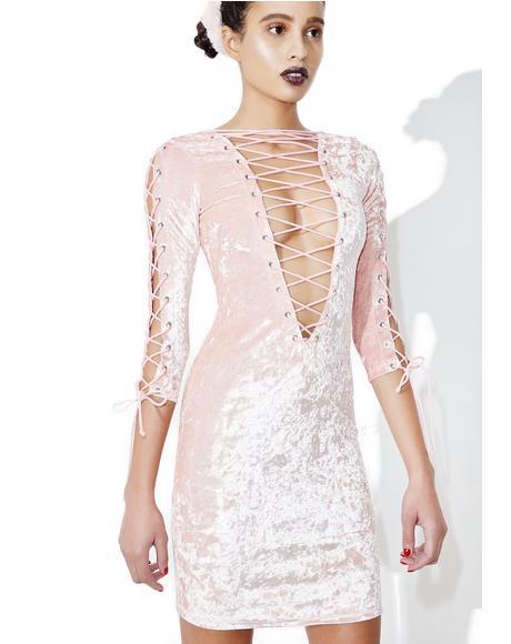 Princess Velvet Crushin' Lace-Up Dress