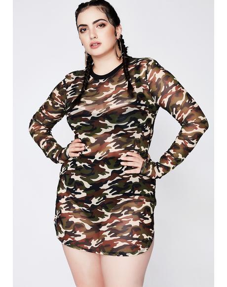 On The Battlefield Camo Dress