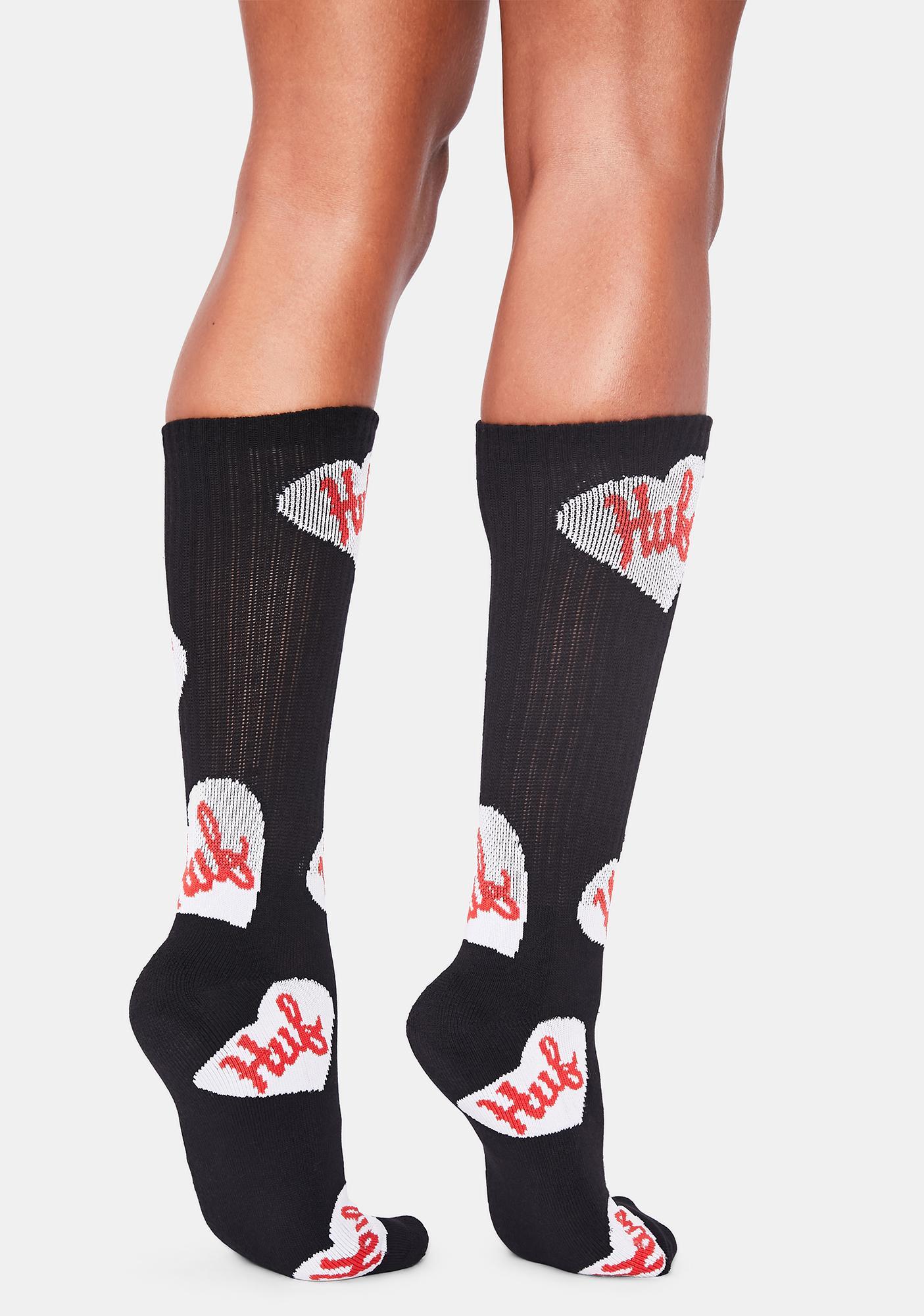 HUF Plastic Hearts Crew Socks